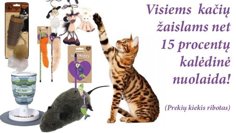 15 procentų nuolaida kačių prekėms