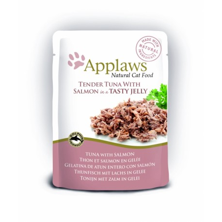 APPLAWS CAT TUNA WITH SALMON POUCH IN JELLY