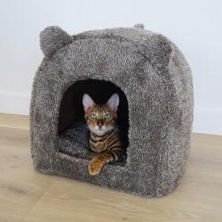 Katės guolis Rosewood pet minkštas namukas-meškiukas