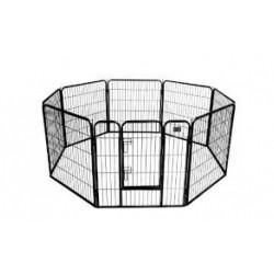 Metalinė tvorelė 8 dalių (pilka)