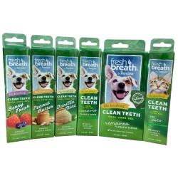 Tropiclean Fresh Breath Clea Teeth dantų gelis įvairių skonių