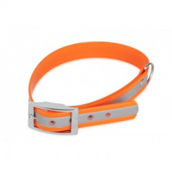 FIREDOG biotaninis šviesą atspindintis antkaklis (oranžinis) Įv. Ilgių