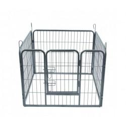 Metalinė tvorelė 4 dalių (pilka)
