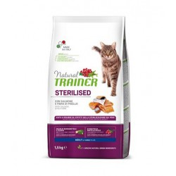 Trainer Natural Cat Sterilised With Salmon