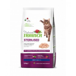 Trainer Natural Cat Sterilised With White Meat