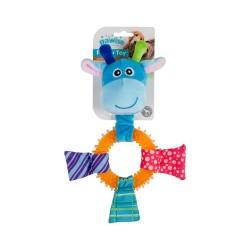 Pawise Puppy Ring žaislas šunims įvairių spalvų