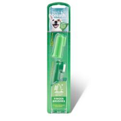 Dantų šepetėlis Fresh Breath Finger Brush (2 vnt.)