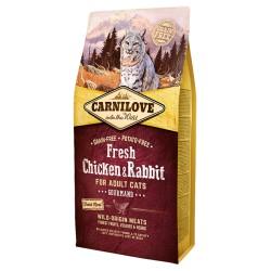 Carni Love Fresh Chicken & Rabbit Adult Cat sausas maistas katėms