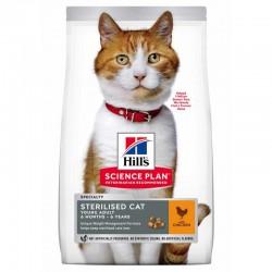 Hills SP Feline Sterilized Cat Young Adult Chicken maistas katėms