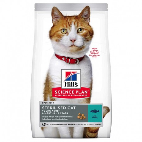 Hills SP Feline Sterilized Cat Young Adult Tuna maistas katėms