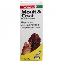 Vetzyme Moult & Coat papildas šunims ir katėms
