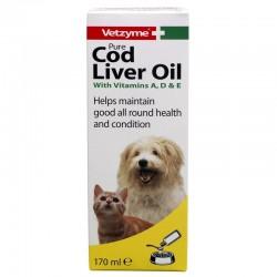 Vetzyme Cod Liver Oil papildas šunims ir katėms