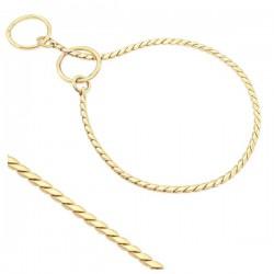 Smaugiama metalinė grandinėlė parodoms 2mm pločio (aukso spalvos)