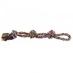 Medvilninė virvė šunims su 3 mazgais