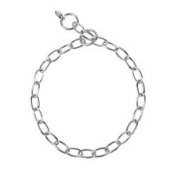 Grandinėlė šunims Chain short oval link Stainless steel