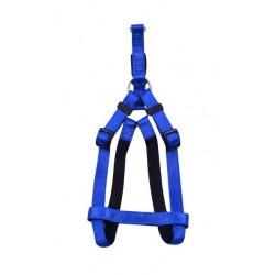 Petnešos gyvūnui Harness Nylon Soft (mėlynos)