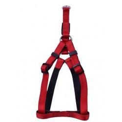 Petnešos gyvūnui Harness Nylon Soft (raudonos)