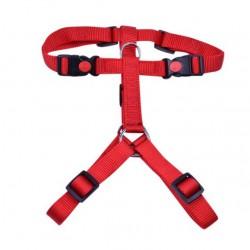 Petnešos gyvūnui Harness 3x adjustable nylon (raudonos)