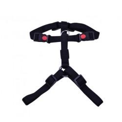 Petnešos Gyvūnui Harness 3x Adjustable Nylon (Juodos)