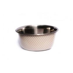 Neslystantis metalinis dubenėlis Anti Skid Bowl with Print (kreminis)