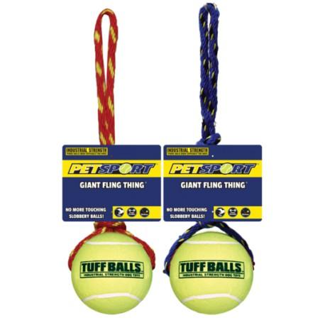 Pet Sport Giant Fling Thing kamuoliukas su virve šunims