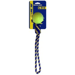 Pet Sport Cotton Rope Tug with Tuff Ball kamuoliukas su virve šunims