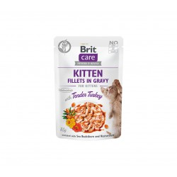 Brit Care Cat konservai kačiukams Fillets in Gravy Turkey