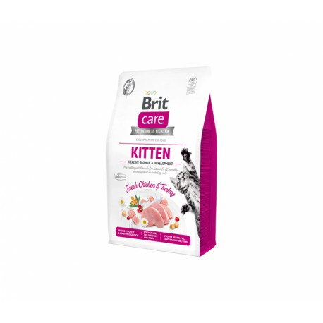 Brit Care Cat GF Kitten Healthy Growth & Development sausas maistas kačiukams