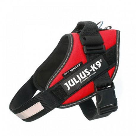 Julius-K9 petnešos šunims, raudonos spalvos, įv. dydžių