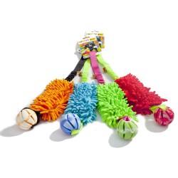 Medžiaginė dresūros pelė šunims su kamuoliuku BUNGEE, Įv. spalvų