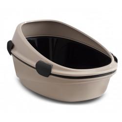 Atviras didelis tualetas katėms MP Bergamo Pin Up Maxi Luxo su sieteliu