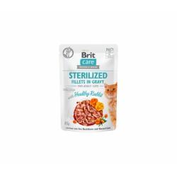 Brit Care Cat Sterilized konservai katėms Fillets in Gravy Healthy Rabbit