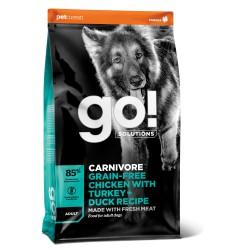 Go! Solutions Carnivore Grain Free sausas maistas šunims su vištiena, kalakutiena ir antiena