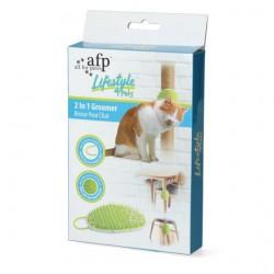 Pakabinamos guminės šukos gyvūnams AFP Lifestyle 4 Pet-2 In 1 Groomer