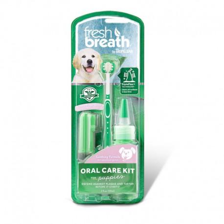Tropiclean Fresh Breath Oral Care Kit rinkinys jauniems šuniukams