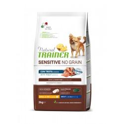 Natural Trainer Sensitive No Grain Adult Mini Trout maistas šunims