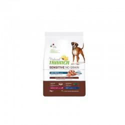 Natural Trainer Sensitive No Grain Adult M/M Trout maistas šunims