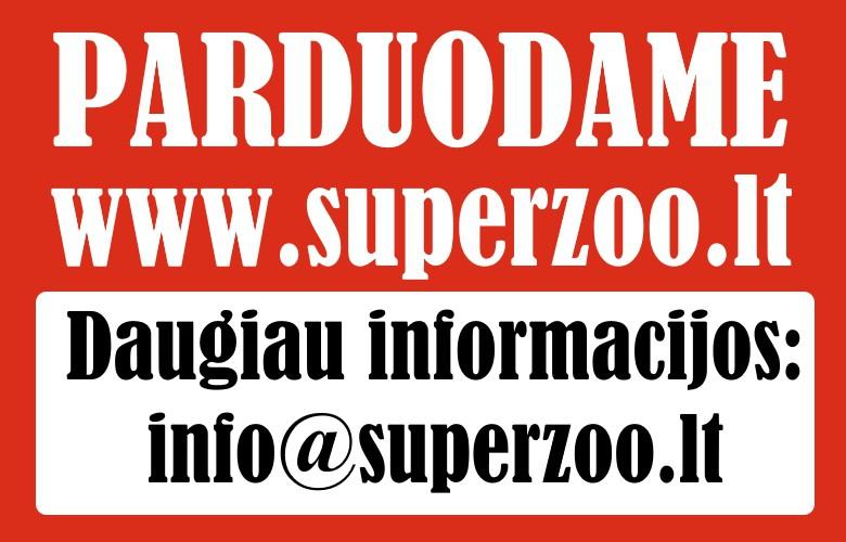 Parduodama internetinė zooprekių parduotuvė superzoo.lt